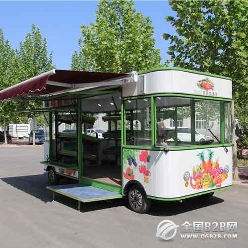 厂家直销、电动水果车、电动果蔬售卖车、水果车批发、水果房车
