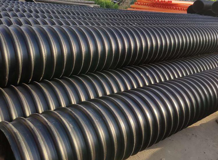 大口径pe排污管pe钢带增强波纹管厂家供货