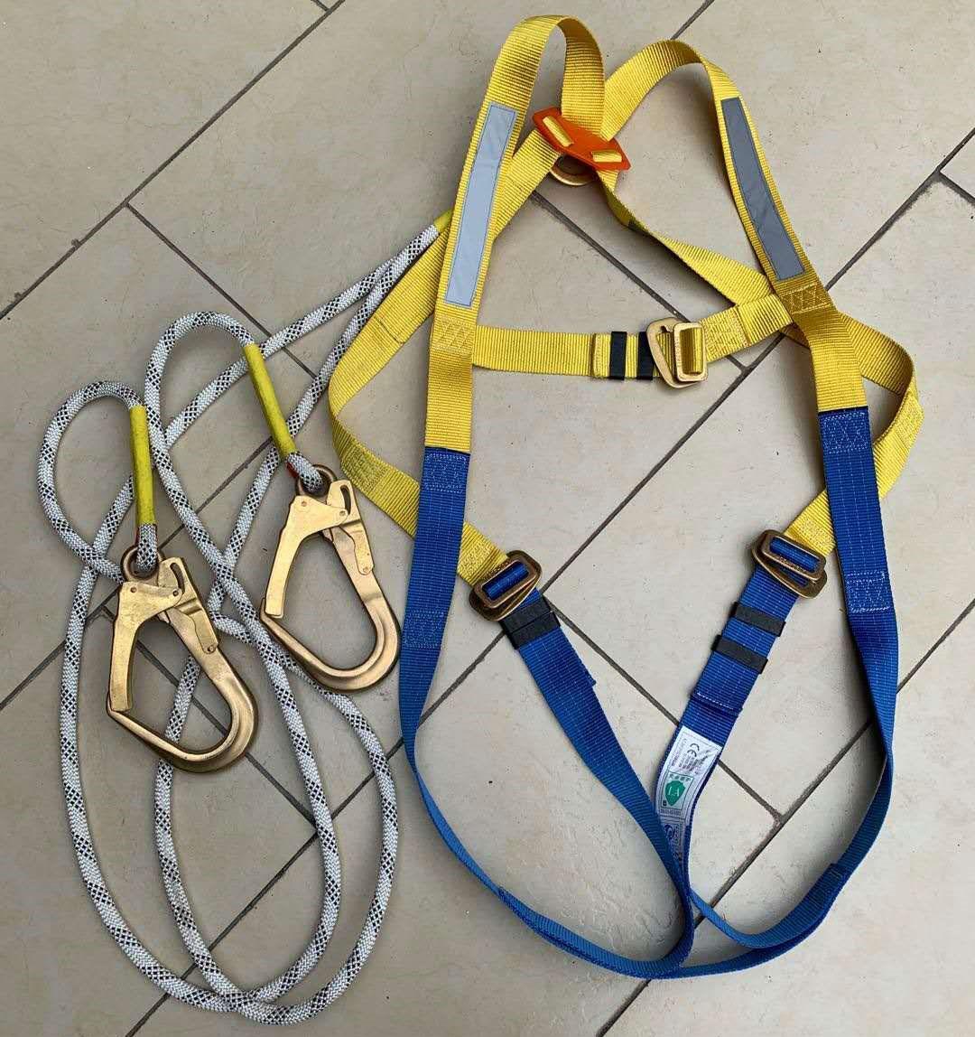 释放静电全身式安全带,防静电防坠落欧式双大钩安全带