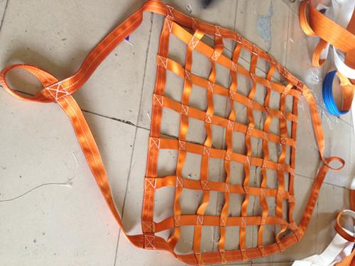 合成纤维吊网 合成纤维吊带吊网 高强度吊装网兜