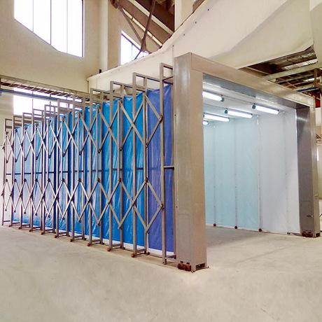 大型伸缩移动喷漆房 1对1定制方案