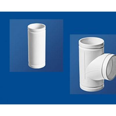 HDPE沟槽式连接静音排水管丨顺水三通丨