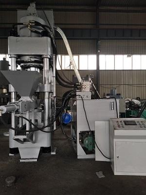 泸州市全自动钢屑压块机Y自动化生产线 安装  调试