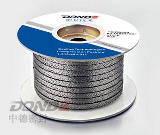 ZD-P1702镍丝增强石棉橡胶盘根