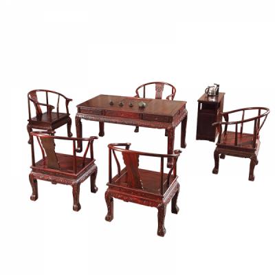 黑酸枝金狮茶桌红木家具