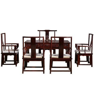红木家具黑酸枝明式茶桌