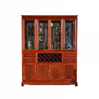 红木家具大厂刺猬紫檀/缅花和和美美酒柜供应