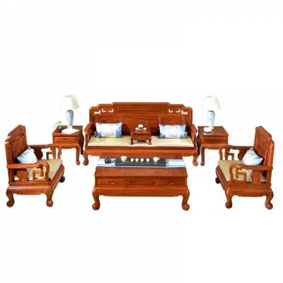 红木家具刺猬紫檀 缅花 国色天香沙发供应