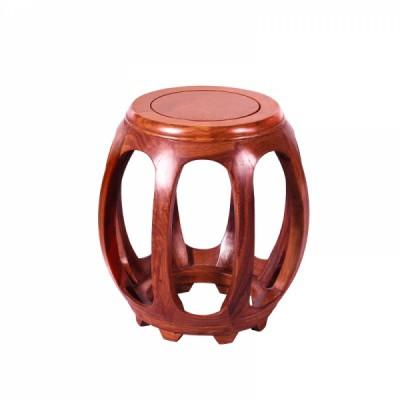 红木家居刺猬紫檀/缅花鼓凳