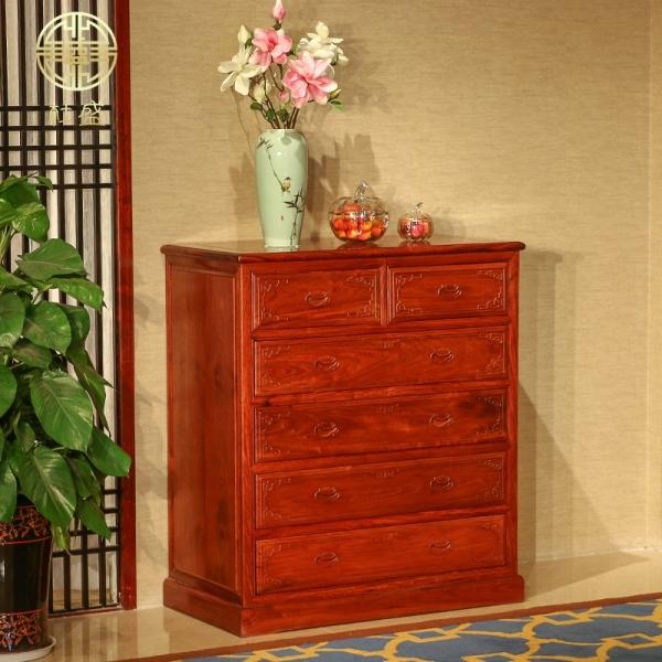 质量可靠红木家具刺猬紫檀 缅甸花梨 六斗柜