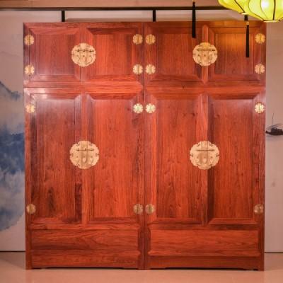 刺猬紫檀/缅花素面顶箱柜高端红木家具厂供应
