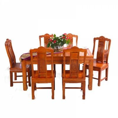 红木家具刺猬紫檀/缅花汉宫春晓高端餐桌套装供应