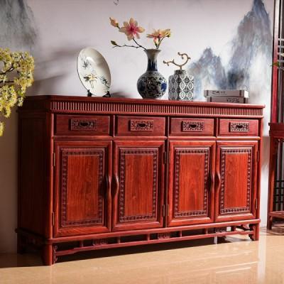 红木餐厅家具刺猬紫檀/缅花明韵餐边柜