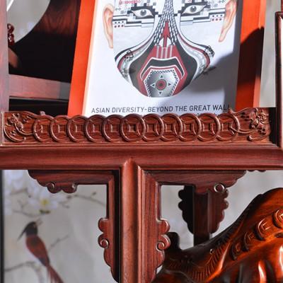 款式高端老挝红酸枝博古架知名红木家具公司