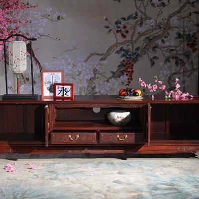 进口木料老挝红酸枝电视柜正宗红木家具