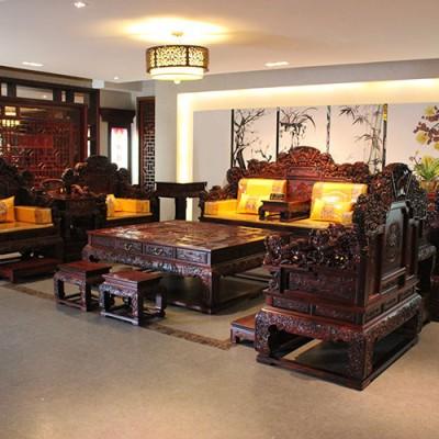 优质供应老挝大红酸枝(交趾黄檀)沙发组合