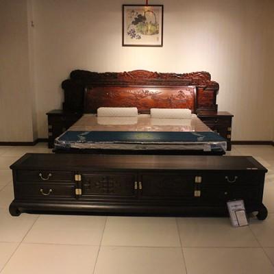 风韵系列红木家具老挝大红酸枝(交趾黄檀)大床