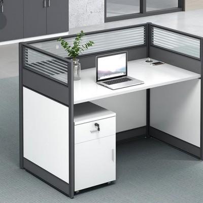 沈阳 现代简约职员办公桌4人员工屏风隔断卡位工位电脑桌