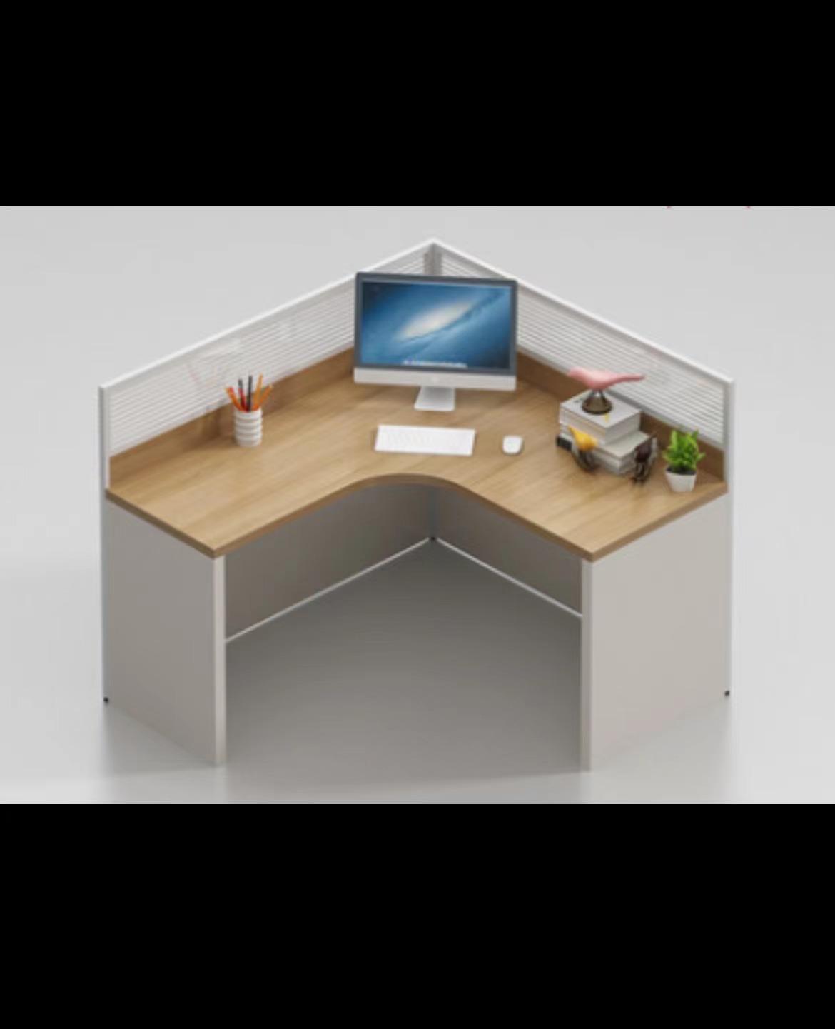 沈阳办公家具简约现代白色办工桌子屏风双人卡座工作位职员办公桌