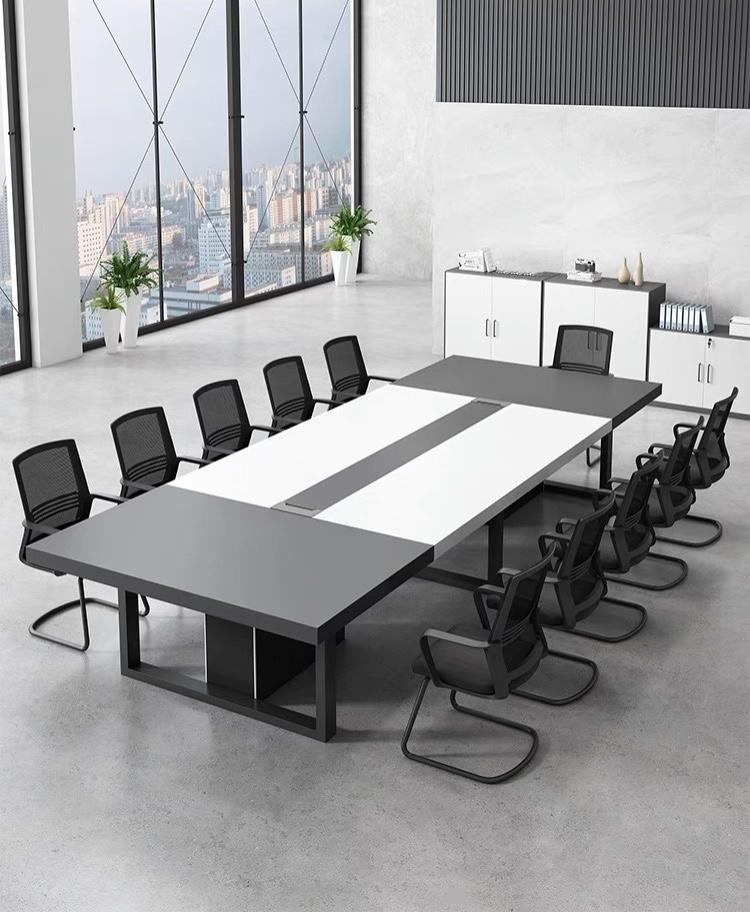 沈阳大型会议桌长桌简约现代长条长方形简易培训会议桌定制批发